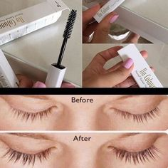 Nutriol Eyelash Treatment 👁conditions and protects delicate lashes 👁adds volume and thickness 👁defines and separates eyelashes. 👁extends the wear of your mascara Makeup Mascara Beauty Box, Beauty Secrets, Beauty Hacks, Longer Eyelashes, Long Lashes, Dry Skin Around Eyes, Curling Mascara, Nu Skin Mascara, Nail