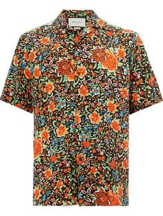 Gucci Oriental Print Shirt - Farfetch