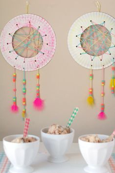 This dream catcher is sure to help your kids have the sweetest of dreams.Made with paper plates, yarn and beads. Easy for small children. dream catcher paper plate Dream Catcher Craft for Kids Fun Crafts For Kids, Diy Arts And Crafts, Summer Crafts, Diy For Kids, Diy Crafts, Diy Dream Catcher For Kids, Dream Catcher Craft, Paper Plate Crafts, Paper Plates