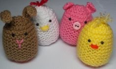 Craftsy: Cute Egg Cozies FREE knitting pattern by Audrey's Knits Knitting Club, Loom Knitting, Knitting Patterns Free, Knit Patterns, Free Knitting, Baby Knitting, Free Pattern, Easter Projects, Easter Crafts