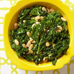 Greens & Beans-- White beans add a creamy component to this protein-packed side dish.