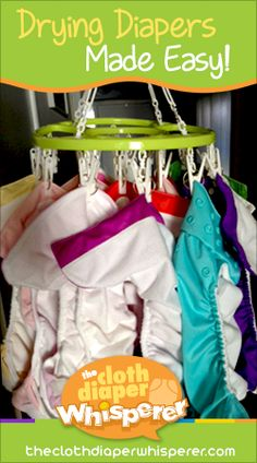 The Cloth Diaper Whisperer: Drying Diapers Made Easy