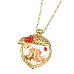 Chip 'N Dale Charm Necklace Disney Necklace, Disney Jewelry, Pandora Jewelry Box, Mickey Mouse Earrings, Estilo Disney, Harry Potter Jewelry, Cute Jewelry, Jewlery, Disney Couture