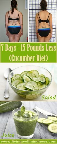 7 Days- 15 Pounds Less (Cucumber Diet