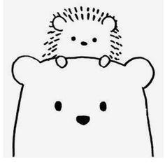 Cute Easy Drawings, Art Drawings For Kids, Doodle Drawings, Drawing For Kids, Line Drawing, Animal Drawings, Art For Kids, Easy Doodle Art, Simple Doodles