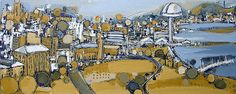 newcastle cityscape painting