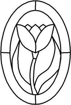 Resultado de imagen para simple flower stained glass designs