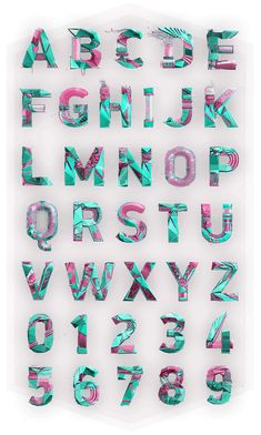 Polygonal Alphabet on Behance