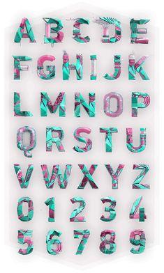 Polygonal Alphabet on Behance