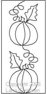 Vertical Pumpkin Border by Lana Corcoran Digitized Quilting Patterns Quilting Stitch Patterns, Machine Quilting Patterns, Quilt Stitching, Quilt Patterns Free, Quilting Stencils, Quilting Templates, Quilting Tutorials, Longarm Quilting, Halloween Quilts
