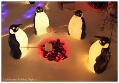 Cute penguin scene using blowmolds. This is for Davey & Jill!