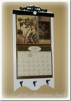 Rustic Style Calendar Holder Color Choice Free