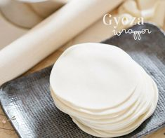 Easy to make homemade Japanese Gyoza Wrappers recipe. It only required a few ingredients that you probably already have in your pantry. Recipe For Gyoza, Gyoza Wrapper Recipe, Bento Recipes, Thai Recipes, Korean Recipes, Cooking Recipes, Japanese Gyoza, Japanese Dumplings, Japanese Food