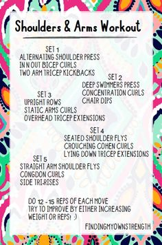 shoulders and arms workout!