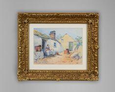 "No: 406N  Thomas Charles Leeson Rowbotham (1823-1875)   ""Cottage Near Rydal"" Signed T C Rowbotham lower left and dated 1853"