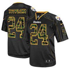 Pittsburgh Steelers Ike Taylor Men's Elite Black Nike Jersey - #24 NFL