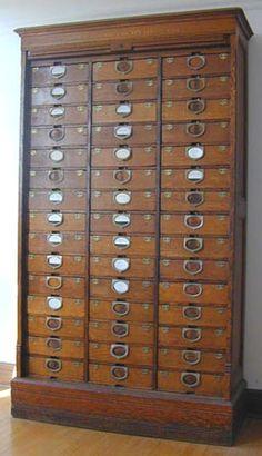 Antique filing cabinet.