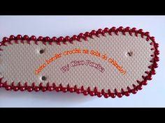 Beaded Bracelet Patterns, Beaded Bracelets, Crochet Flip Flops, Crochet Barefoot Sandals, Beaded Crafts, Shoe Pattern, Crochet Slippers, Bare Foot Sandals, Summer Diy