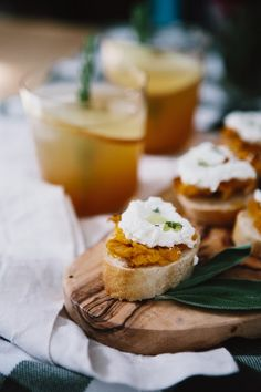 Style Within Reach: Entertaining: Butternut Squash + Ricotta Crostini