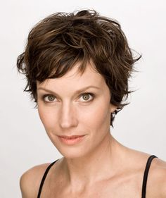 One way to rock a pixie cut is to simply leave it tousled. You can just run your fingers through it, spray it with a little product or use a little gel or mousse, and you're good to go. A totally tousled look will look cute with a pair of jeans, and give an edge to your LBD look.