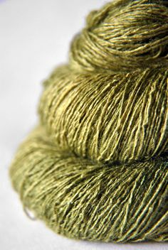 Withering moss  Tussah Silk Lace Yarn by DyeForYarn on Etsy