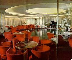 Lounge Aboard The S.S. United States by glen.h, via Flickr