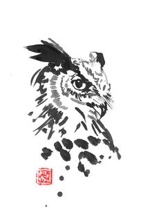 Bird Drawings, Animal Drawings, Drawing Sketches, Drawing Animals, Owl Illustration, Ink Illustrations, Owl Stencil, Owl Sketch, Owl Quilts
