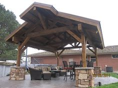 Sand Creek Post & Beam - This covered 15'x20' Pavilion would be great by our pool.