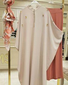Modern Hijab Fashion, Modesty Fashion, Abaya Fashion, Muslim Fashion, Fashion Dresses, Stylish Dresses For Girls, Stylish Dress Designs, Hijab Style Dress, Mode Abaya