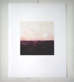 Abstract Landscape Art Print - Plum | Art Photography | Brenna Giessen Designs | Scoutmob Shoppe | Product Detail
