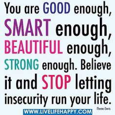 YES, you are good enough! #confidence #success #life