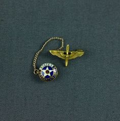 Vintage WWII United States Army Air Corps Sweetheart Pin Wings Enamel GF
