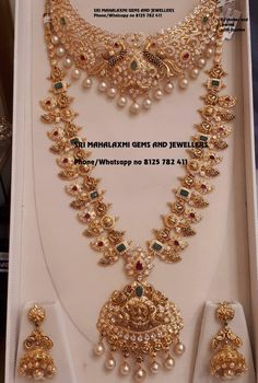Bridal jewellery sets get best designs made in perfect finish. Presenting Mango haram with Czs nakshi choker and Jhumke. Visit for excellent designs at most competitive prices. Contact no 8125 782 13 March 2019 Indian Bridal Jewelry Sets, Indian Jewelry, Bridal Jewellery, Jewellery Earrings, Jewellery Shops, Jewelry Stores, Gold Jewellery Design, Gold Jewelry, Gold Necklace