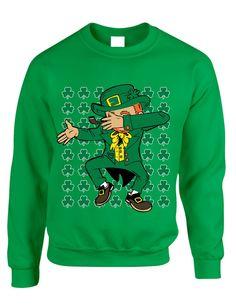 Dabbing Irish Leprechaun St patrick women sweatshirt
