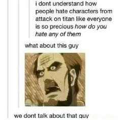 We don't talk about that guy.