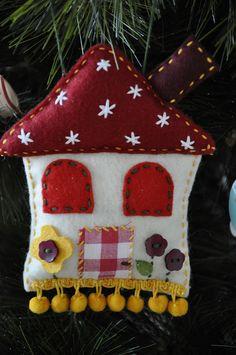 Christmas cottage ornament