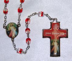 Divine Mercy Chaplet Enameled- Sonia and Elijah would love this!
