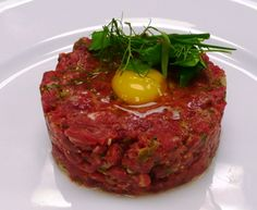 Steak tartare, Fries and a bit of mayonnaise are missing but let's just assume they are on their way