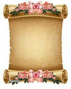 Borders For Paper Flower Background Wallpaper, Flower Backgrounds, Paper Background, Royal Background, Frame Border Design, Page Borders Design, Molduras Vintage, Boarders And Frames, School Frame