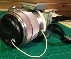 DIY lens cap holder for camera