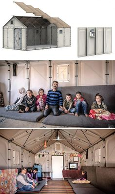 """The """"Better Shelter"""" is a weatherproof and sustainable refugee home developed in partnership between the IKEA Foundation and the United Nations High Commissioner for Refugees (UNHCR)."""