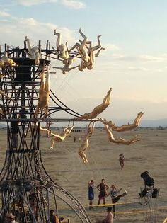 Burning Man, a famous festival held annually in the makeshift city of Black Rock, Nevada, hosts nearly 70,000 participants. Take a look inside all the mayhem..