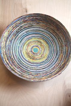 Coiled Recycled Poster Bowl