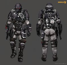 Helghast Soldier concept art from the video game Killzone Shadow Fall by Andrejs Skuja