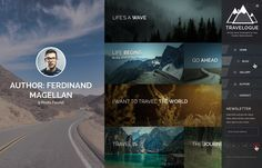 Travelogue - Travel Blog HTML Template (Photo Gallery)
