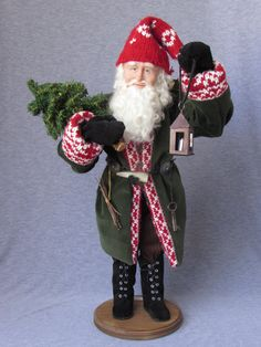 Nonna's Santas by alane -  Handmade Old World Father Christmas OOAK Sculpted Santa Claus