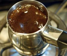Boiling Turkish coffee