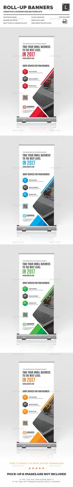 Corporate Roll-Up Banner Design Template PSD. Download here: http://graphicriver.net/item/corporate-rollup-banner/16398408?ref=ksioks