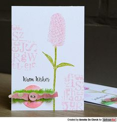 Card by Anneke De Clerck using Darkroom Door Warm Wishes Stamp Set and Alphabet Texture Stamp