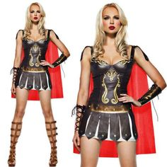 Pu Leather Roman Cosplay Spanish Folk Costume Female Gladiator Costume halloween Costumes for Women